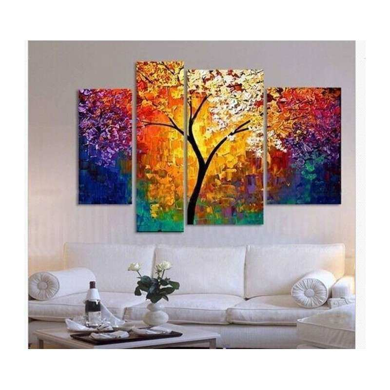 handpainted oil painting palette knife paintings for
