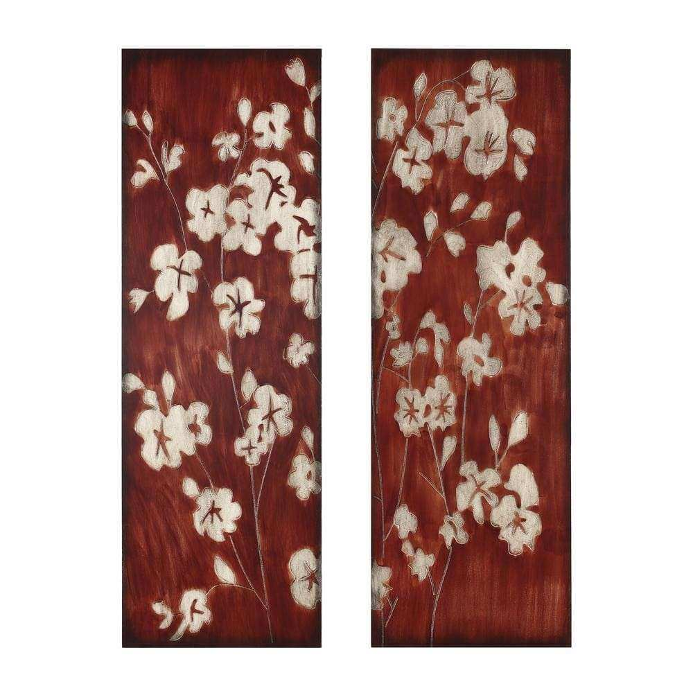 Wood Cherry Blossom 2 piece Wall Art Free Shipping Today