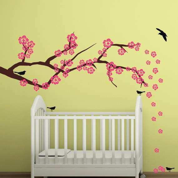 Cherry Blossom Wall Art New Cherry Blossom Wall Decal Art Branch ...