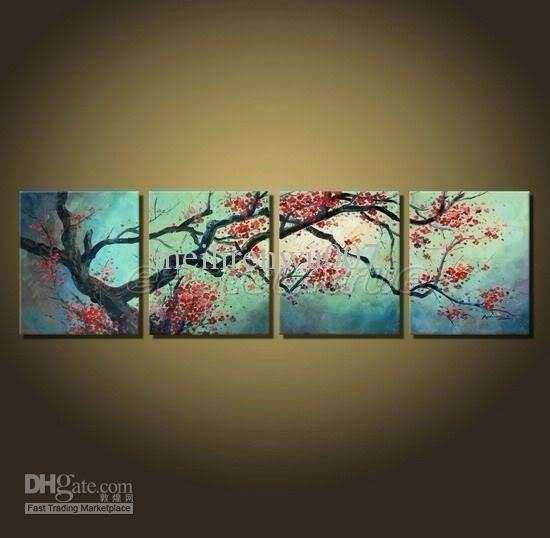 Cherry Blossom Wall Art Unique 2017 Modern Decor Paintings Framed