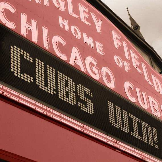 Items similar to Chicago Cubs Wrigley Field Marquee Art on