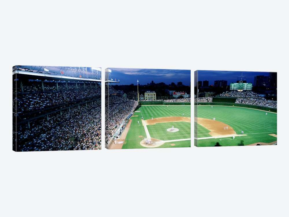 USA Illinois Chicago Cubs baseball 2 Canvas Wall Art