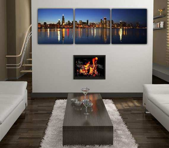 Unbelievable Design Chicago Skyline Wall Art Plus Etsy