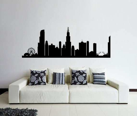 Chicago Wall Art Elegant Chicago Wall Decal Chicago Skyline Decal Cities by & Chicago Wall Art Elegant Chicago Wall Decal Chicago Skyline Decal ...