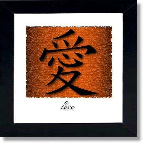Symbols Chinese and Framed wall art on Pinterest