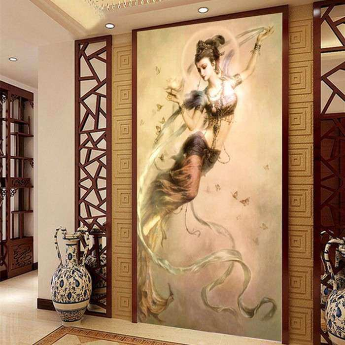 3d chinese wall art home decor background canvas the