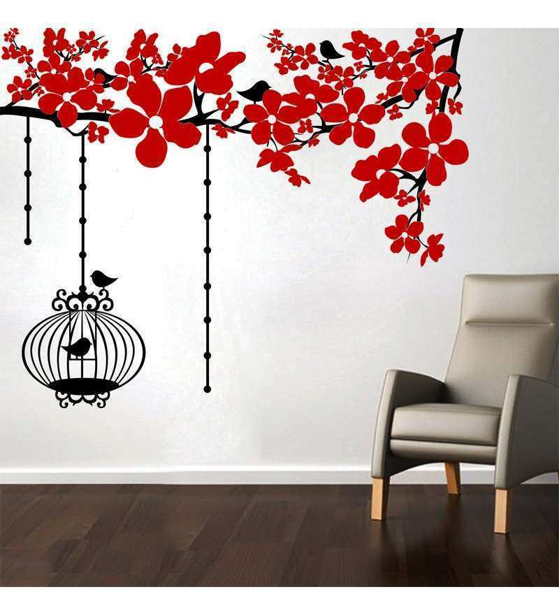 Chinese Flowers Wall Decal by Creative Width line