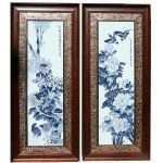 Chinese Wall Decor New Chinese 4 Seasons Blue White Porcelain Framed Wall Decor S1147 Of Chinese Wall Decor