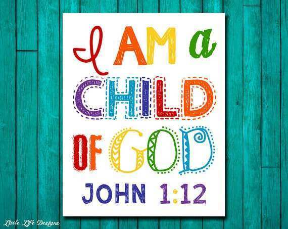 Christian Wall Art Children s Room Decor I am a child of