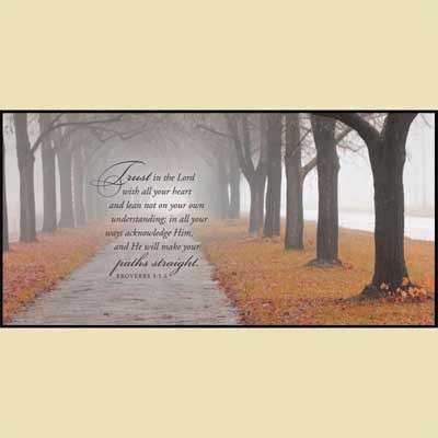 Misty Path Christian Wall Art Christian Personalized Gifts