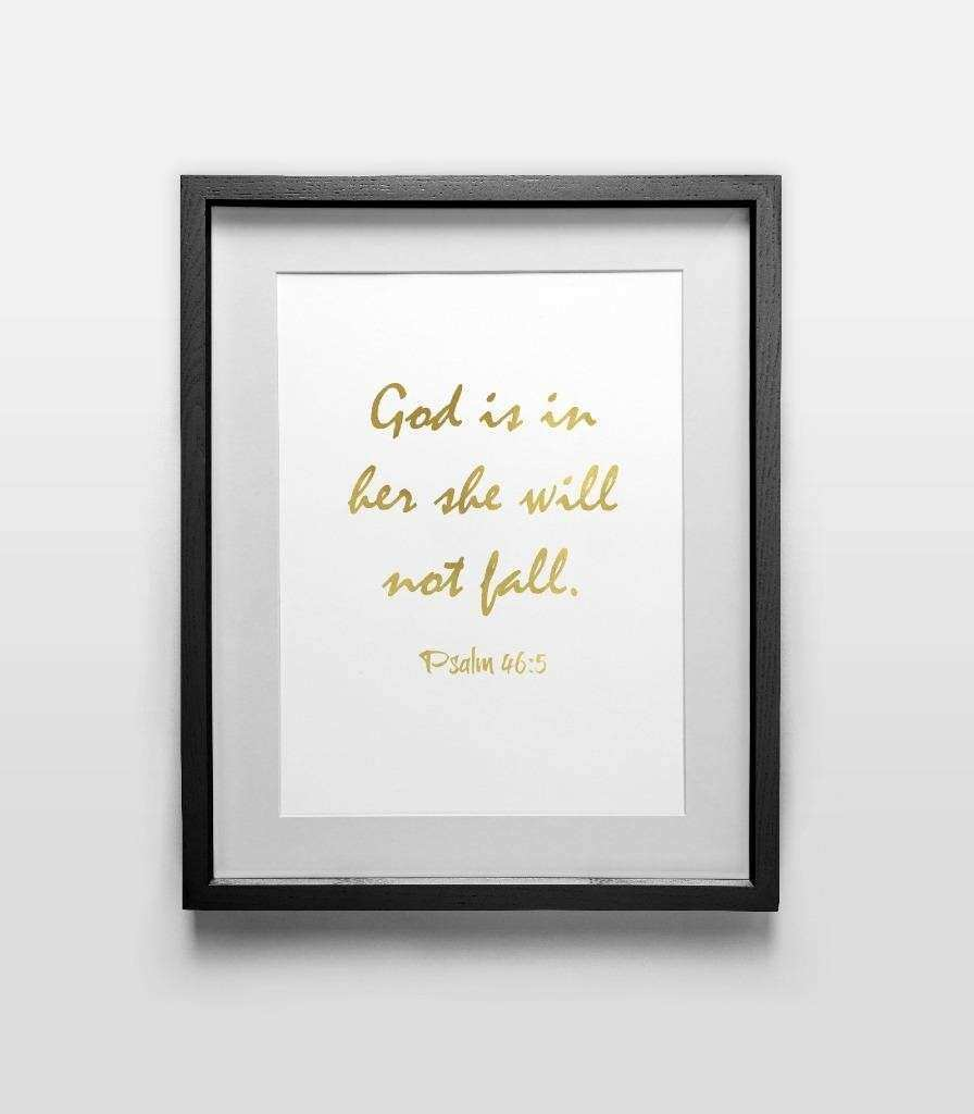 Religious 11 Quote Print Wall Art Home fice Décor Gold