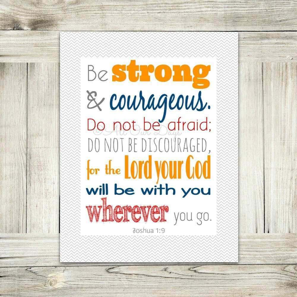 Word Art Wall Art Bible Verse Joshua 1 9 Be Strong and
