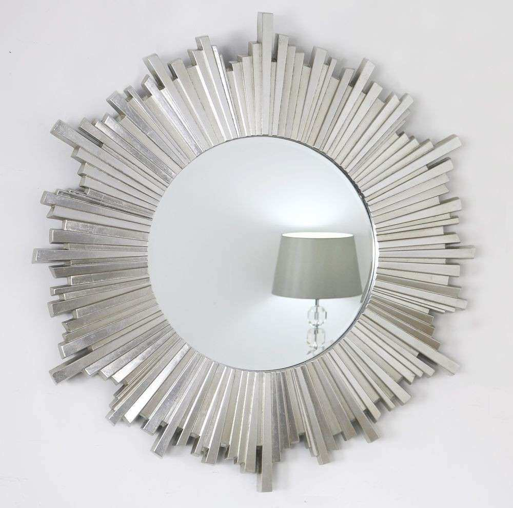 Circle Mirror Wall Decor Fresh Hamilton Silver Sunburst Art Deco Round Wall  Mirror 40u0026quot; ...