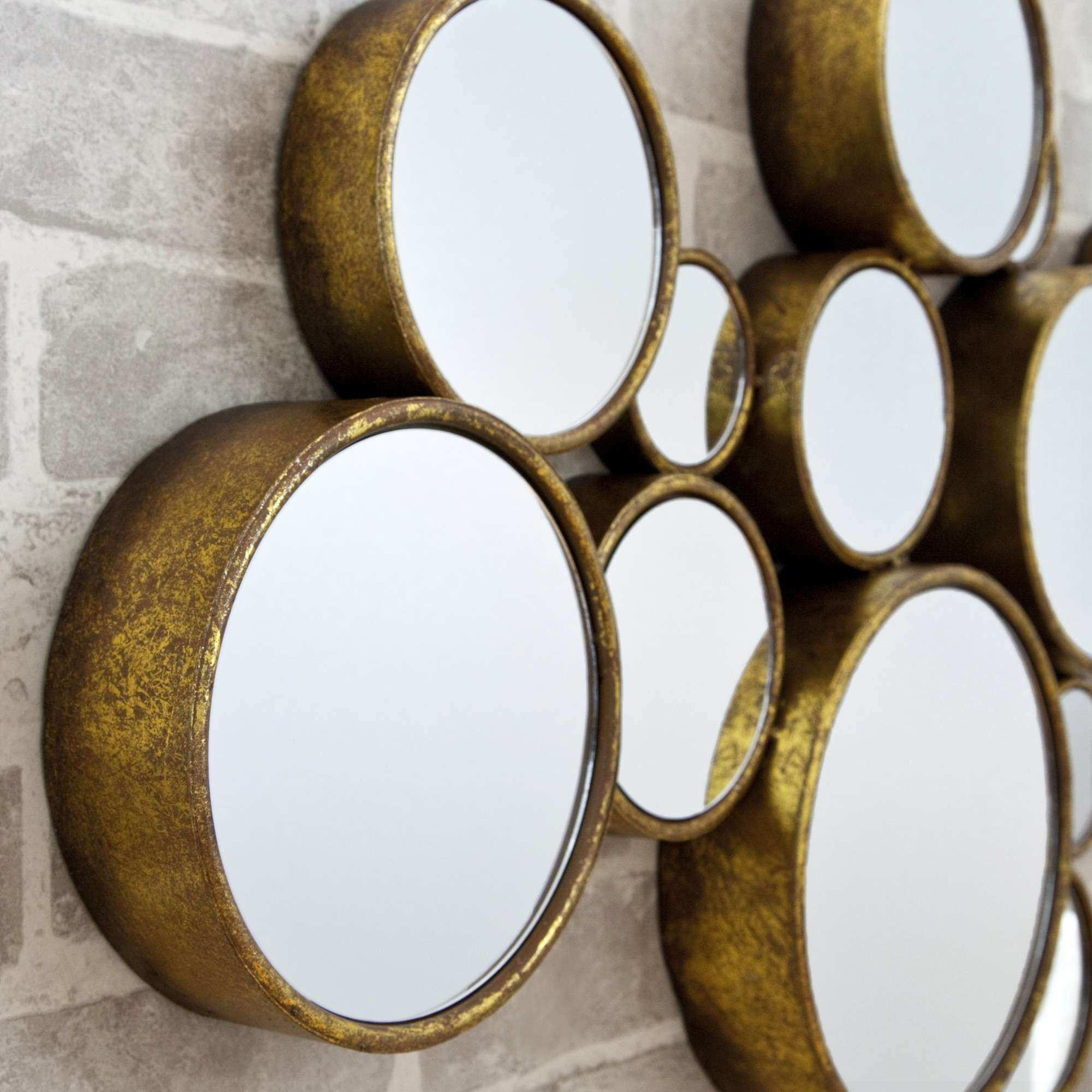 Circle Mirror Wall Decor Lovely Funky Circles Mirror Modern Wall ...