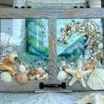 Coastal Wall Art Luxury Beach Glass Window Art Bathroom Art with Seashell Art On Window