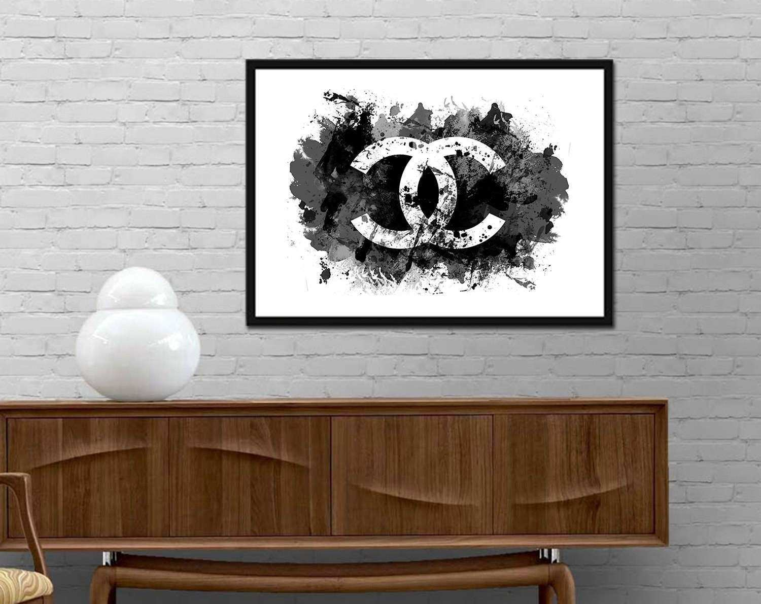 Chanel Watercolor wall art Chanel Sign Modern Poster Brand