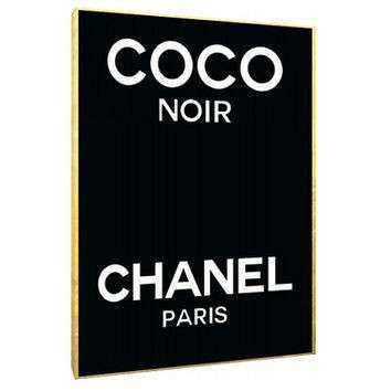 Coco Noir Chanel perfume label Canvas from Type and Style