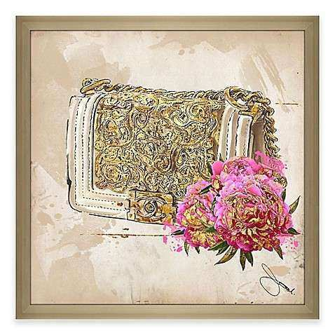 BY Jodi Coco In Gold Framed Canvas Wall Art Bed Bath