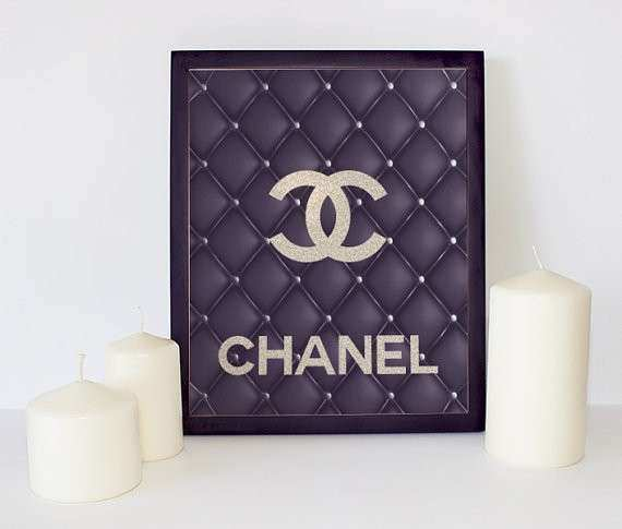 Leather Chanel Logo Chanel Wall Art Coco Chanel Print