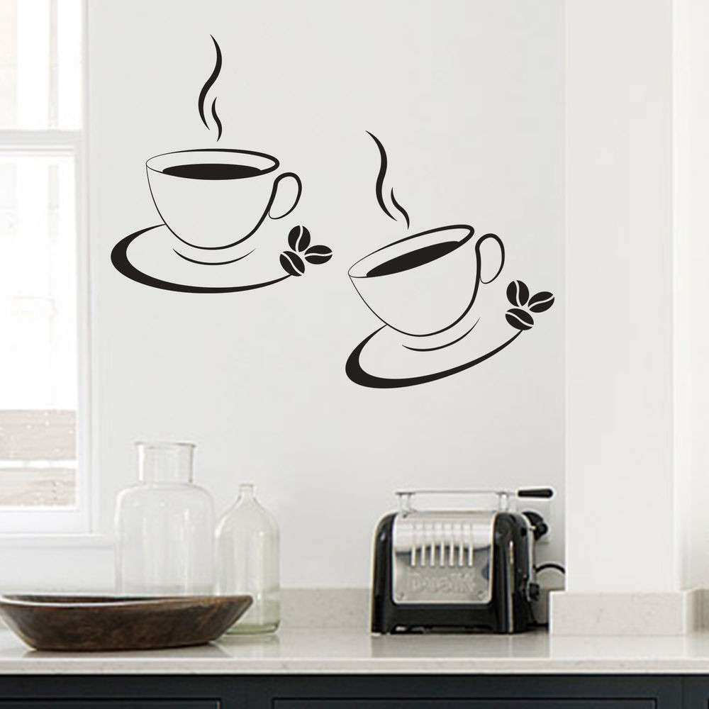 Coffee Wall Decor Kitchen Inspirational 2 X Coffee Cup Kitchen Cafe ...