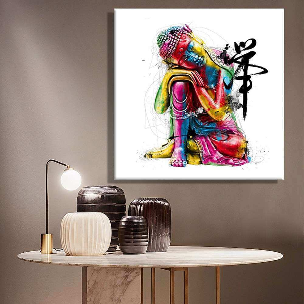 Aliexpress Buy Oil Paintings Canvas Colorful Buddha