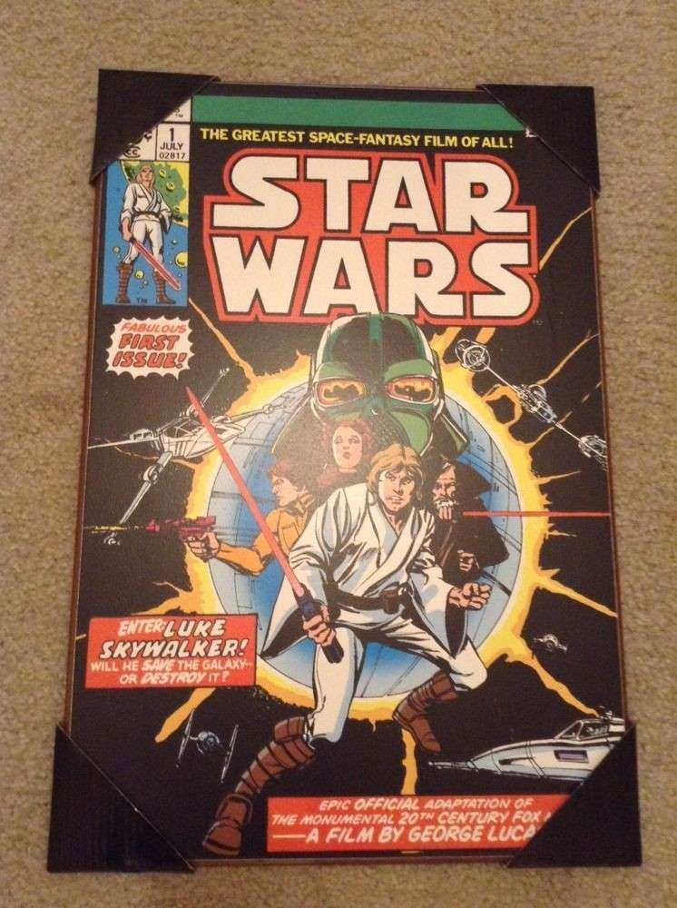 Star Wars 1 Marvel ic Book Cover Wall Art Wood Plaque