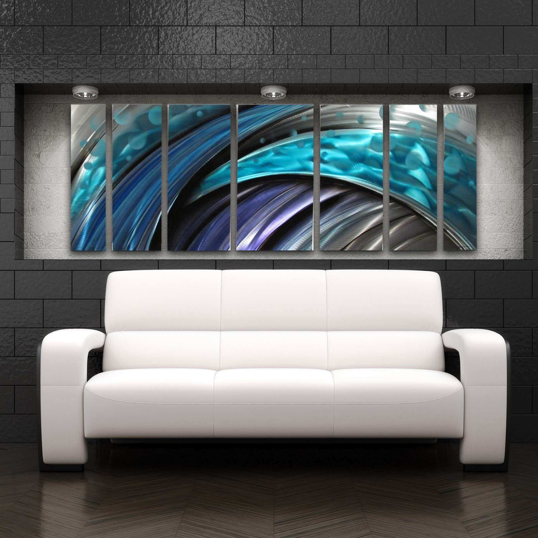 Lovely Contemporary Wall Art Beautiful U0026quot;typhoonu0026quot; Modern Abstract Metal  ...