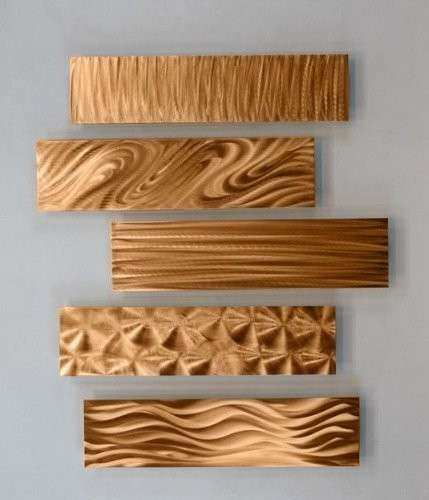 Copper Rectangular Metal Wall Accent Multi Panel Bold