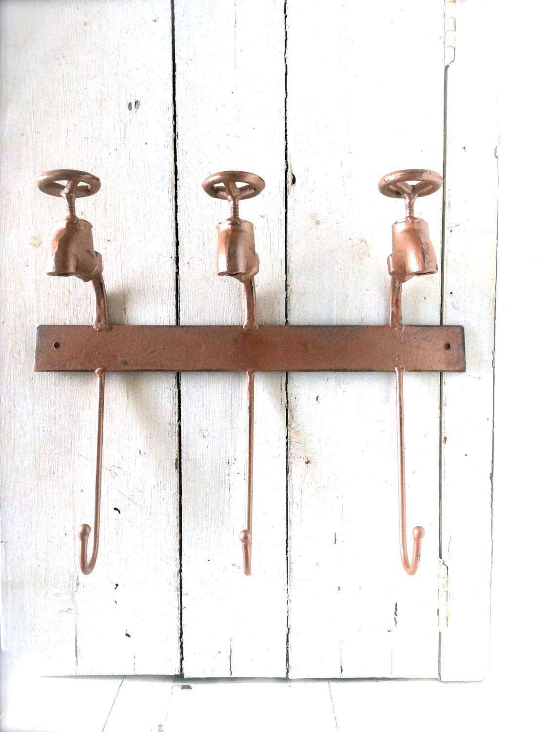 Copper Wall Decor Copper Wall Art Wall Hooks by honeywoodhome