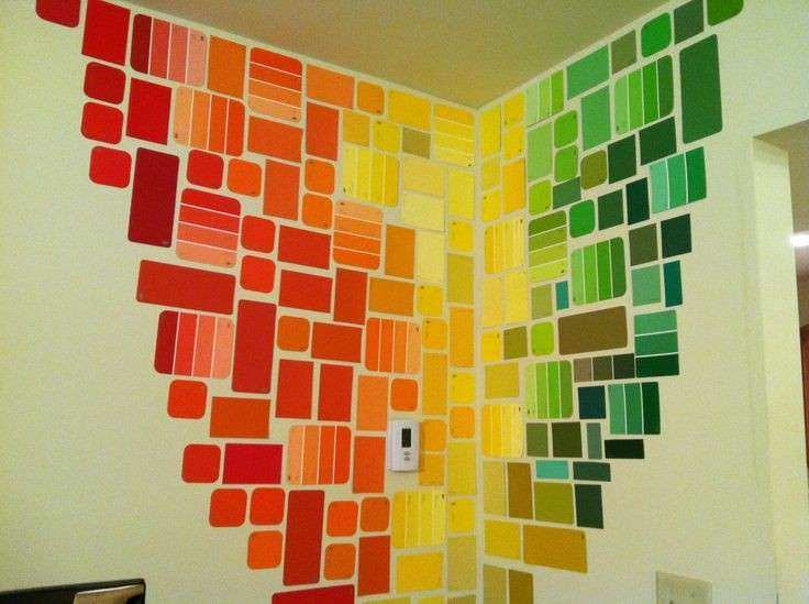 Corner Wall Decor Inspirational Free Wall Art with Paint Chips Dorm ...