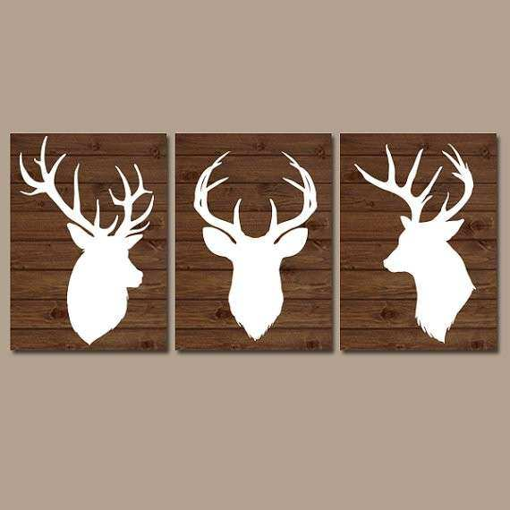 Delightful Country Wall Art Unique Deer Wall Art Deer Nursery Art Canvas Or Prints  Baby Boy