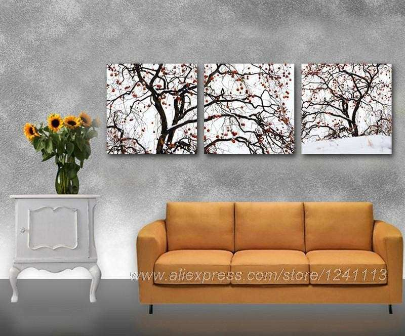 Tree With Fruits Reproduction Print Canvas Decoration