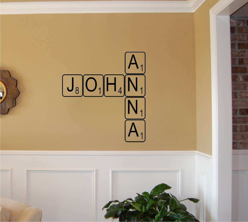 Create your own Scrabble letters Vinyl Wall Decal Sticker Art