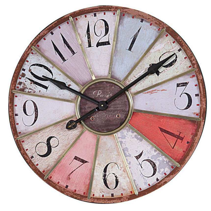 Multi Colored Wall Clock DE1174