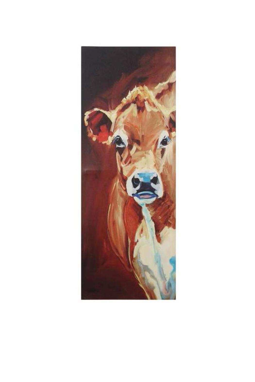 Creative Co Op Cow Canvas Decor from Kentucky by Gracious