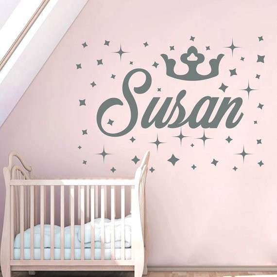 Crown Wall Decor for Nursery Awesome Personalized Name Wall Decals ...