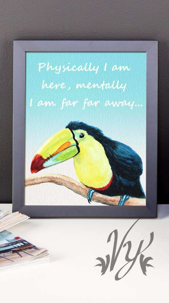 Cubicle Wall Decor New Fice Cubicle Decor Parrot Poster Print Wall Art toucan