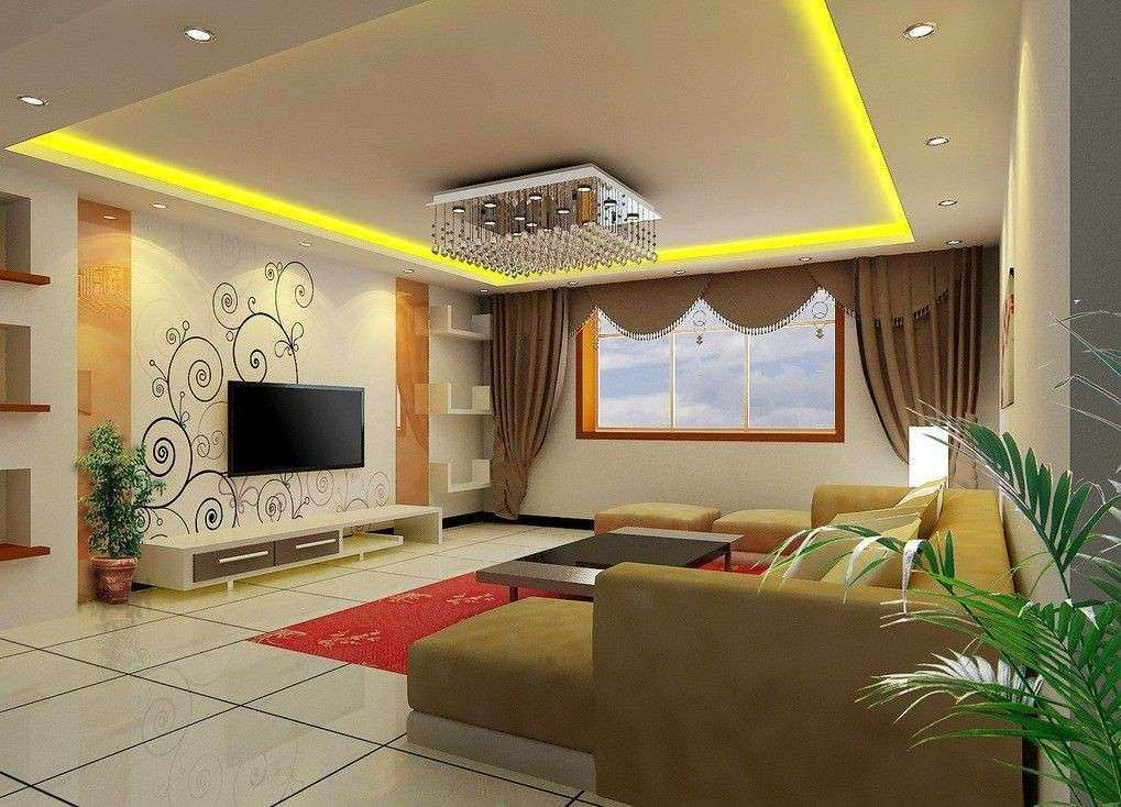 Decor For Living Room Wall Beautiful Living Room Tv Wall Wallpaper And  Curtain Design