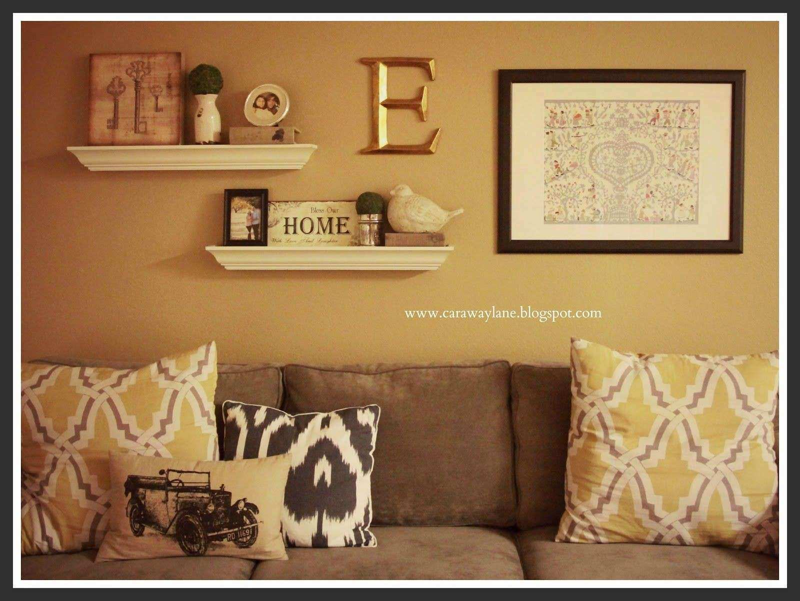 Decorating Living Room Walls Awesome Decorate Over A sofa the Couch ...