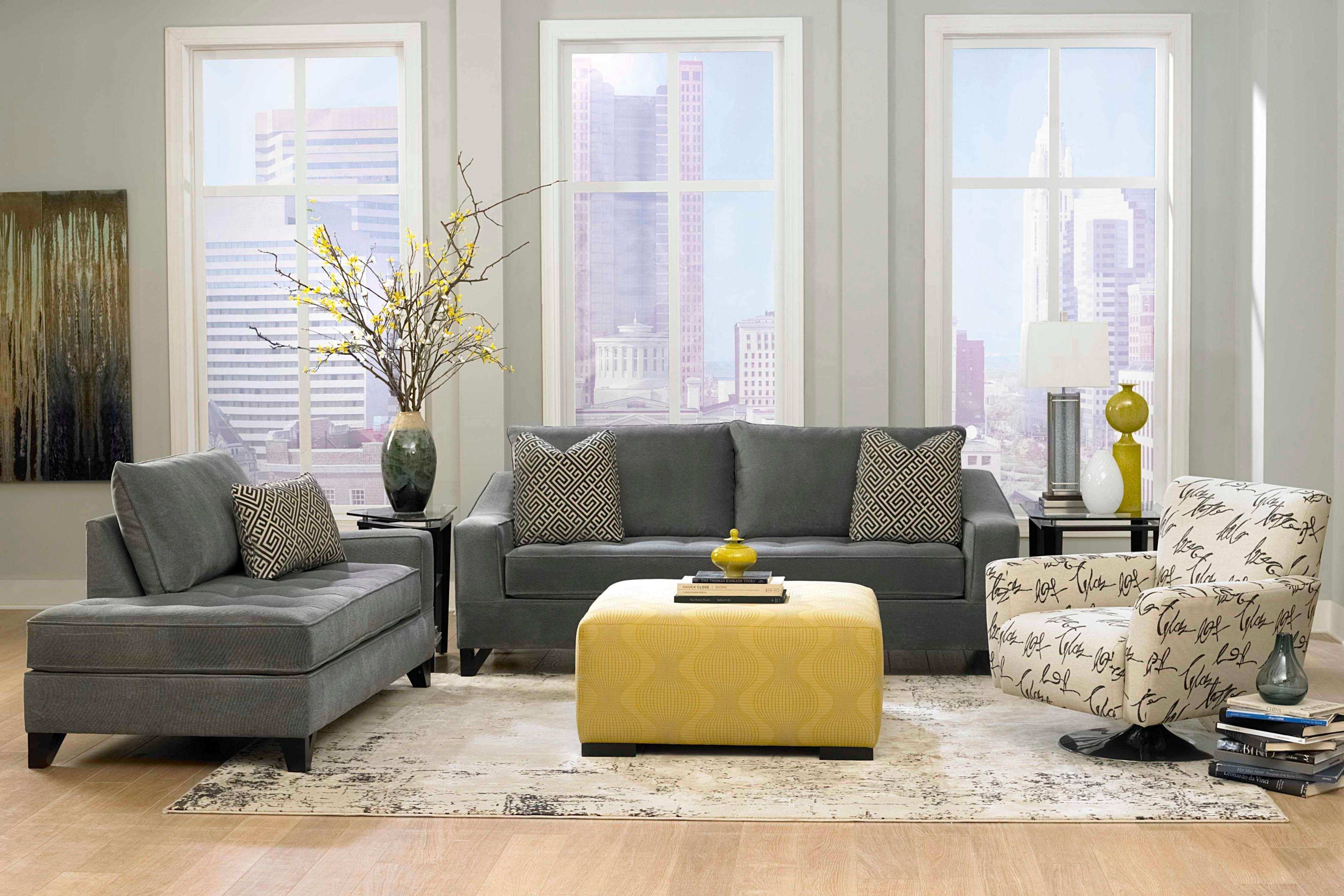Decorating With Yellow Walls Living Room Elegant Living Room Dark Grey Sofas  With Grey Wall Paint