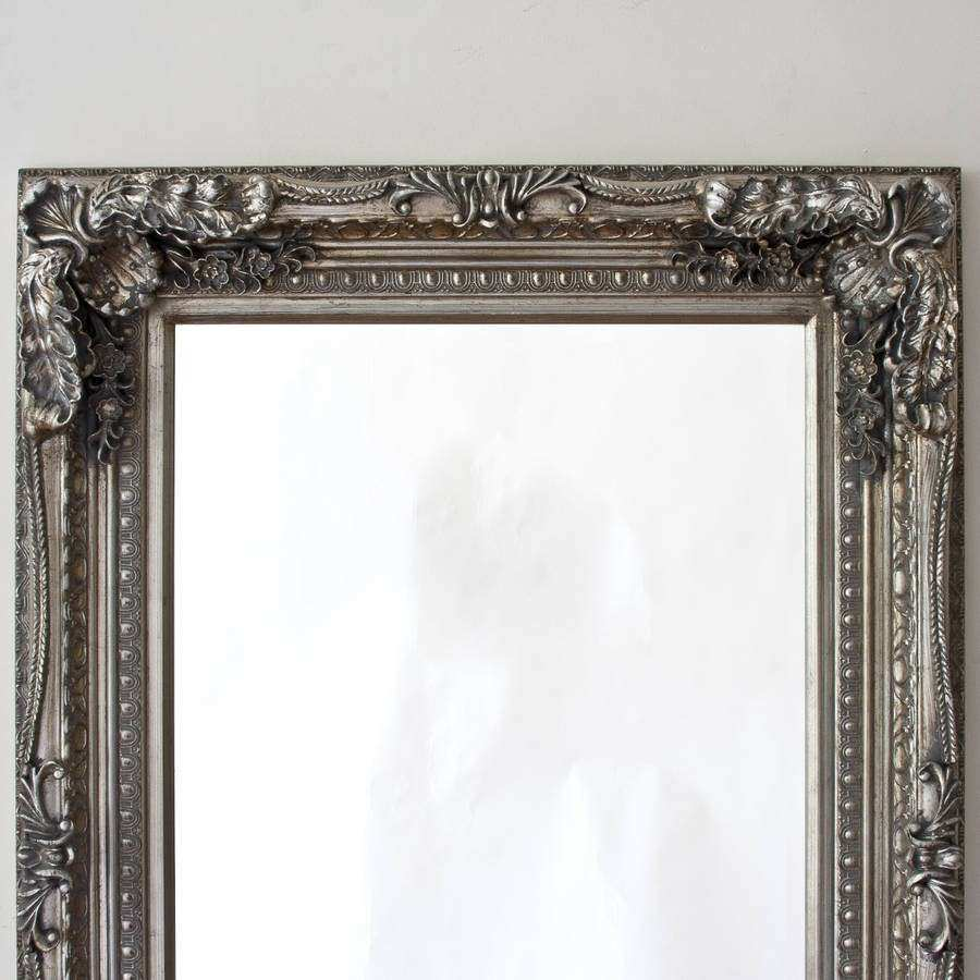 grand silver full length dressing mirror by decorative