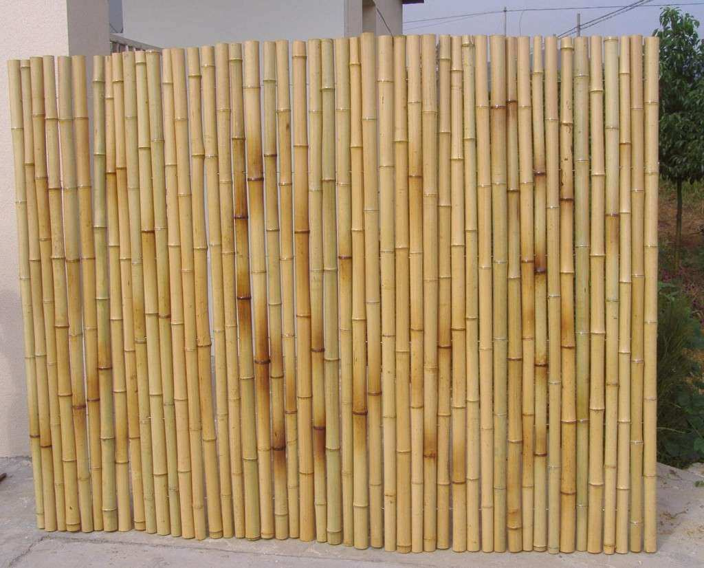Bamboo Wall Panels With Nice Natural Rolled Bamboo Fence