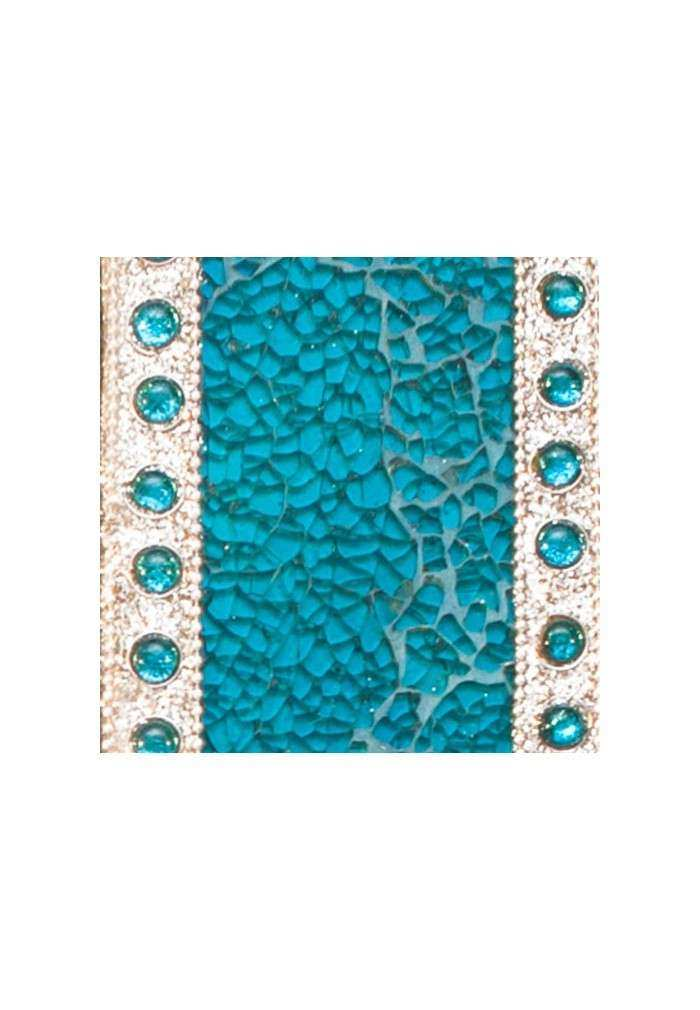 """DecorShore 24"""" x 18"""" Crackled Glass Mosaic Wall Mirror"""
