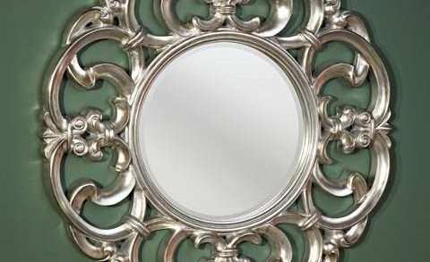 Decorative Round Mirrors for Walls Lovely Garland Silver Decorative Round Framed Wall Mirror by