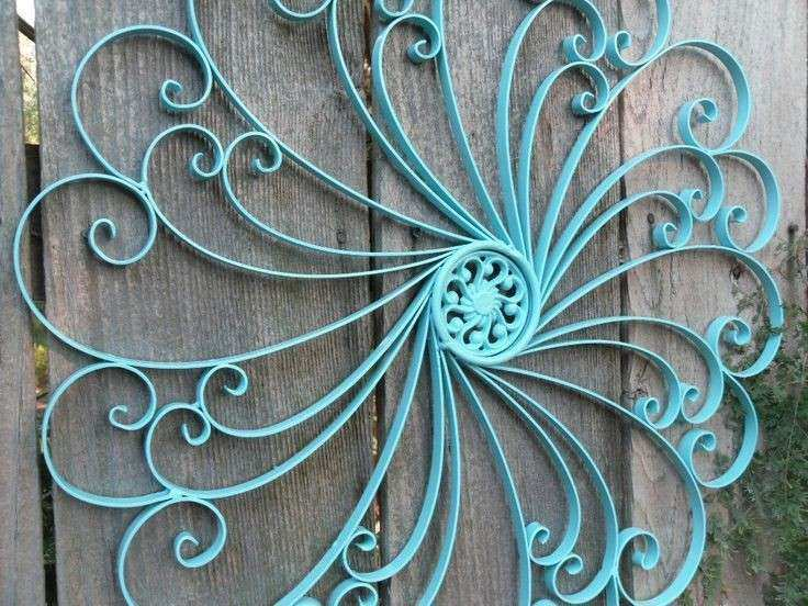 Wrought Iron Wall decor Metal Wall decor Aqua