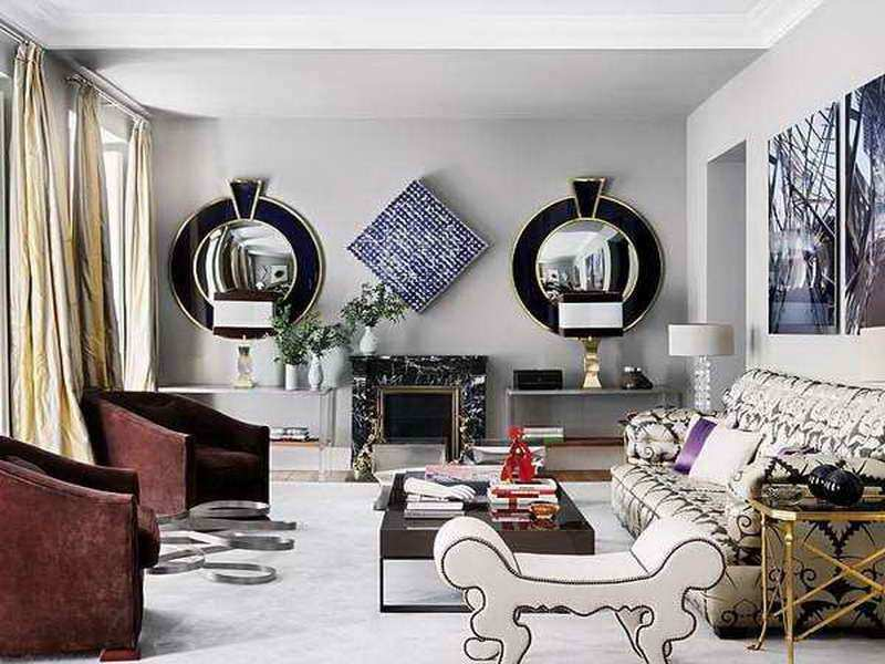 Decorative Wall Mirrors for Living Room Elegant Bloombety  with