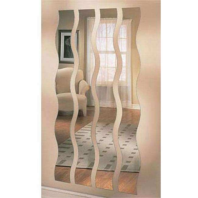 Set of Four Wave Strip Mirrors Free Shipping Today
