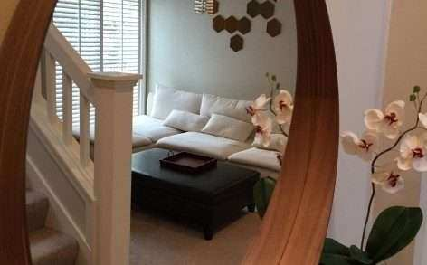 Decorative Wall Mirrors Ikea Beautiful Awesome Round Mirror How To Hang An