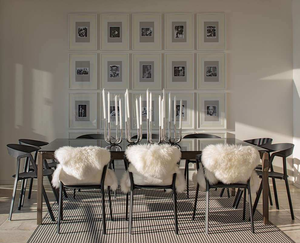 Hanging art ideas dining room contemporary with metal