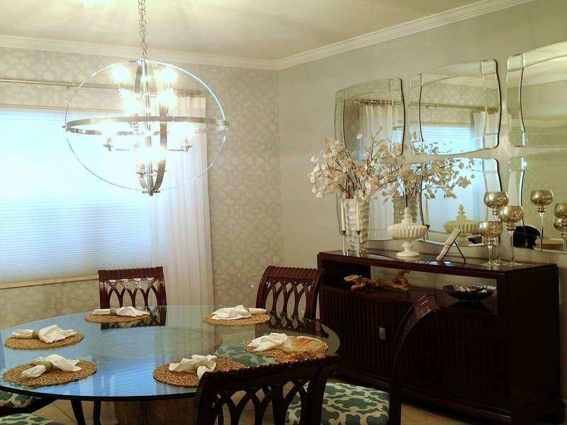 Wall Dining Room Wall Decor Ideas With Unique Lamp
